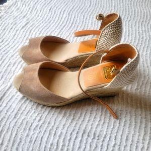 Kanna Wedges peep toe Nude Size 39